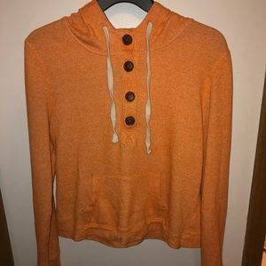 Pullover Hoodie Half Button W/ Strings